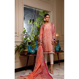 Oaks 2 Pcs Unstitched Suit For Women OLE2P-3607A Peach