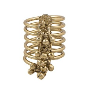 Challa Style Ring for Unisex J091 Golden