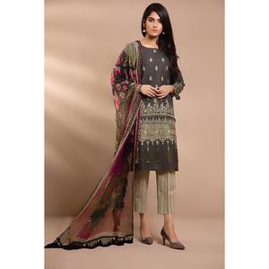 Oaks 3 Pcs Unstitched Suit for Women OLEC-3299-A Multicolor