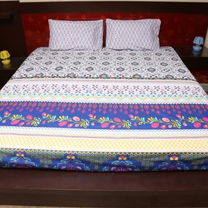 Cotton King Size Bed Sheet Multi Color