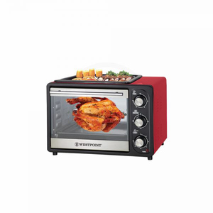 Westpoint Rotisserie Oven With Bbq On Top 1300W WF-2400Rd Red And Black