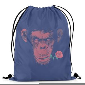 The Warehouse Cool Monkey Artwork Drawstring Bag DB-M001424 Multicolor