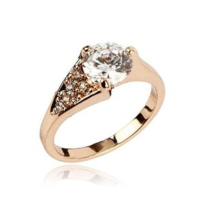Fashion Cafe Zircon Embellished Ring ZP-36-7 Golde ...