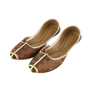 Plain Khussa For Women 2110 Brown