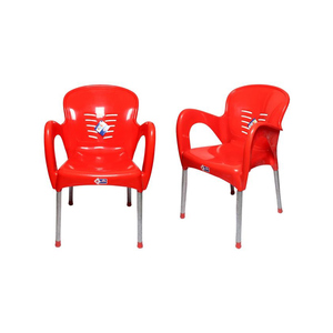 Venus Plastic Res Relaxo Chair With Steel Legs Set Of 2 TBL-TRL-119 Red