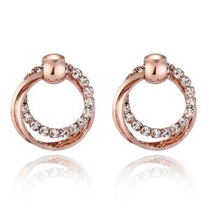 Zardi Round Glowing Earrings Gold