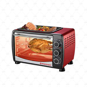 Westpoint Toaster Oven with Hot Plate 24 Litre WF-2400RD Red & Black