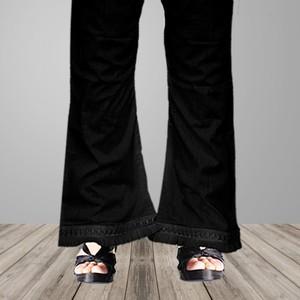 Estitch Laced Bell Trouser For Women Black