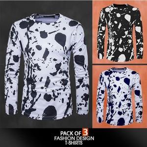 Voom Pack Of 3 Fashion Design T-Shirt For Men vo-0 ...
