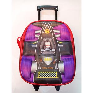 Slider Trolly 2D Wheel Car Style School Bag Multicolor