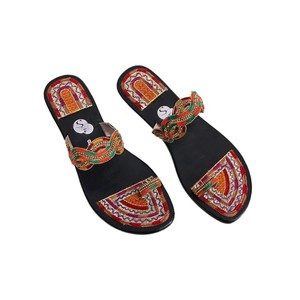 SNF Shoes Kolhapuri Slippers For Women 444 Black