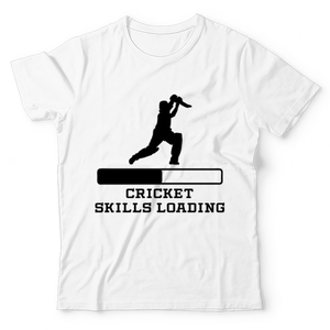 The Warehouse Cricket Skills Loading Graphic Printed T-Shirt For Kids White