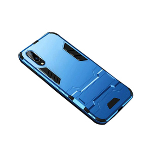 Rugged Armor Hard Hybird Silicone Back Cover for Huawei P20 Lite Blue