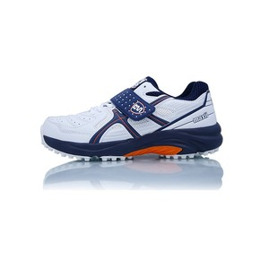 BS Cricket Shoes Maxi Orange, Blue and White