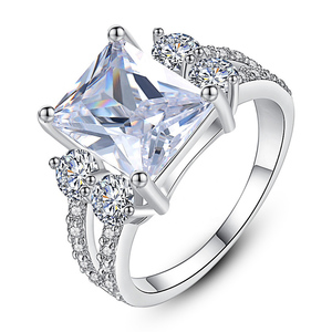 Micro Paved Cubic Zirconia Ring for Women Silver