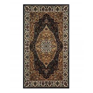 SAJALO Persian Rug Black and Beige