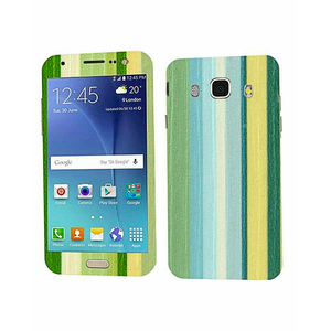 Samsung Galaxy J5 2016 Stripped Wooden Texture Mobile Skin Green