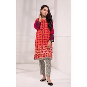 Oaks 2 Pcs Unstitched suit for Women OLE2PT-10337-B Orange