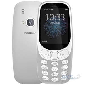 "Nokia 3310 Screen 2.4"" QVGA, 16MB ROM, Feature Phone Grey-master"
