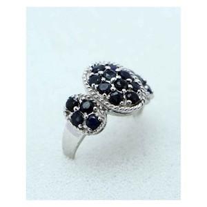 GILGIT BAZAR Sapphire Stone Ring GB1899 Black &amp ...