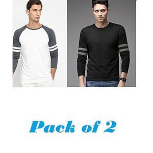 Ewawa Pack Of 2 Full Sleeves T-Shirts For Man
