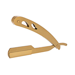 Obexa Medical Equipments Stainless Steel Straight Edge Razor Gold