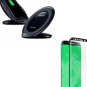 Pack of 2 S8 Plus Fast Wireless Charger & 4D T ...