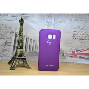 Back Cover Soft Matte TPU Case Cover for Samsung S6 Edge Purple