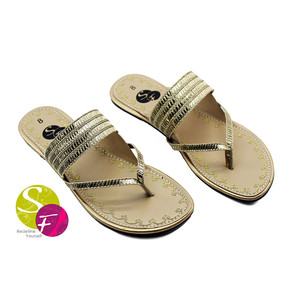 Flat Slippers for Women 437 - Golden