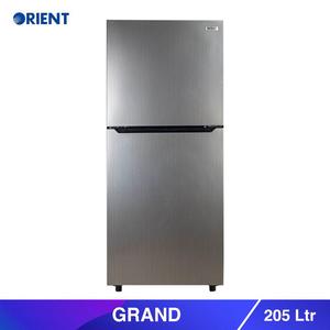 Orient Grand Refrigerator 205 Litre Hairline Silver