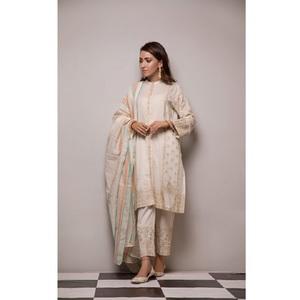 Oaks 2 Pcs Semi Formal Suit for Women OWE2P-1901219 Off White