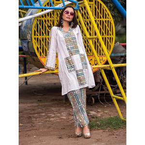 Sitara Studio 2 Pcs Unstitched Sapna Lawn Collection 6137 B White