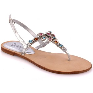 Women Adalyine Embellished Flat Evening Sandal - L ...