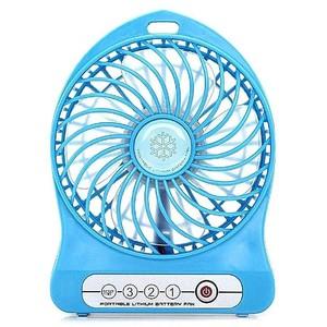 USB Rechargeable LED Fan Air Cooler Blue
