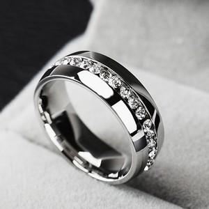 Platinum Plated Diamond Ring PRG - Black