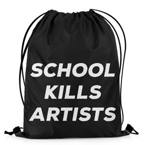 The Warehouse School Kills Artists Drawstring Bag DB-M001816 Multicolor