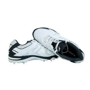 Spikes Cricket Shoes For Men White and Black