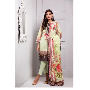 Oaks 3 Pcs Unstitched Suit for Women OLE-3374-A Multicolor