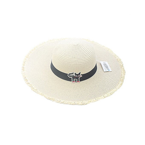 Cat Patch Sun Hat Adult Models Off White