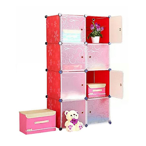 Oddity Diy 8 Cubes Storage Cabinet OD32 Red