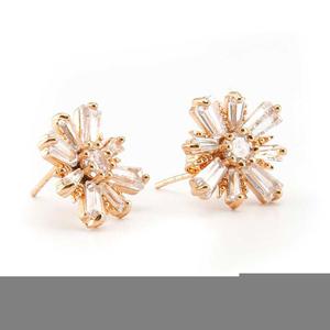 Star Gold Plated Stud Earrings For Women Golden