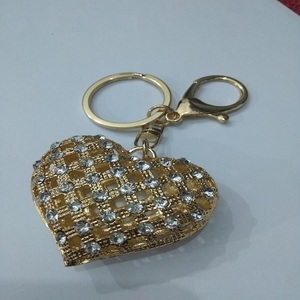 Xunom Cute Heart Ladies Handbags Purse Hanger + Keychain Golden