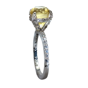 Zed Eye Creations Glowing Solitaire Topaz Ring for Women LCR008a Yellow