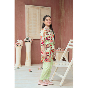 Sitara Studio 2 Pcs Unstitched Sapna Lawn Suit for Women 6139 C Green