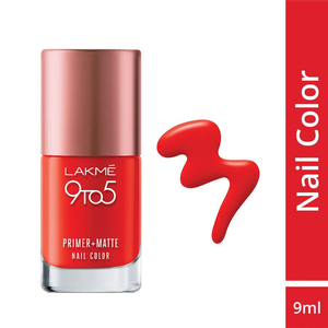 Lakme 9 To 5 Primer + Matte Nails Crimso ...