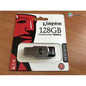 Kingston USB Flash Drive 128GB DT SWIVL 3.0 Black
