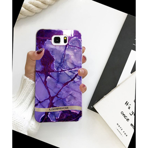 Samsung S6 edge Plus Marble Style Mobile Cover Purple