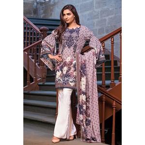 3 Pcs Ladies Designer Unstitched Dress Floral Eve ...