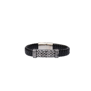 Julke Steven Leather Bracelet for Men JUL-420 Black