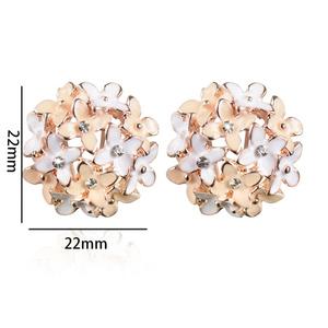Zardi Flower Stud Earrings for Women AE53 Gold